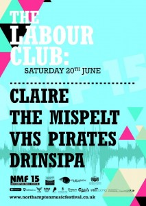 The Lab saturday 20th June. Claire, The Misspelt, VHS Pirates, Drinsipa